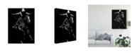 "Trademark Global Julie T. Chapman Scratchboard Rodeo III Canvas Art - 20"" x 25"""
