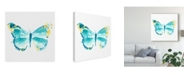 """Trademark Global June Erica Vess Butterfly Traces IV Canvas Art - 27"""" x 33"""""""