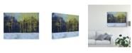 "Trademark Global Paul Bailey Golden Winter Pines Canvas Art - 15"" x 20"""