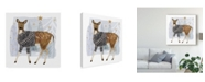 "Trademark Global Victoria Borges Cozy Woodland Animal III Canvas Art - 15"" x 20"""