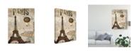 """Trademark Global Sandy Lloyd Postcards of Paris XIV Canvas Art - 37"""" x 49"""""""