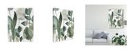 "Trademark Global June Erica Vess Water Leaves III Canvas Art - 37"" x 49"""