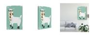 "Trademark Global June Erica Vess Bundle Up Llama II Canvas Art - 20"" x 25"""