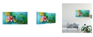 "Trademark Global Leticia Herrera Horizontal Flores VI Canvas Art - 20"" x 25"""