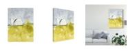 "Trademark Global Jennifer Goldberger White Barn on Citron II Canvas Art - 37"" x 49"""