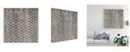"Trademark Global June Erica Vess Weathered Wood Patterns IV Canvas Art - 15"" x 20"""
