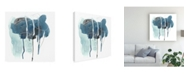 "Trademark Global June Erica Vess Incidental Indigo II Canvas Art - 27"" x 33"""