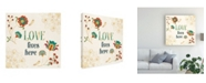 "Trademark Global Veronique Charron Folk Floral 5 Canvas Art - 27"" x 33"""
