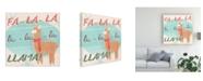 "Trademark Global June Erica Vess Llama Retro Christmas IV Canvas Art - 15"" x 20"""