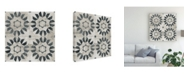"Trademark Global June Erica Vess Neutral Tile Collection III Canvas Art - 15"" x 20"""