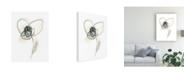 "Trademark Global June Erica Vess Monochrome Floral Study VII Canvas Art - 37"" x 49"""