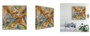 "Trademark Global Nikki Galapon Modern Map of D.C. Canvas Art - 27"" x 33"""