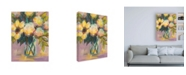 """Trademark Global Jeanette Vertentes Lavender Yellow and Blue Canvas Art - 27"""" x 33.5"""""""