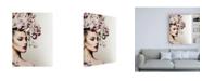 "Trademark Global Incado Rose Woman Canvas Art - 36.5"" x 48"""