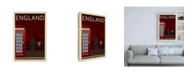 "Trademark Global Incado Telephone Box England Canvas Art - 15.5"" x 21"""