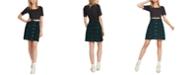 Volcom Juniors' Cotton Plaid Paperbag Mini Skirt