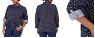 Tommy Hilfiger Plus Size Printed Cotton Shirt