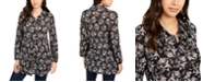 Style & Co Printed Tiered Blouse, Created for Macy's