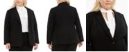 Bar III Trendy Plus Size One-Button Blazer, Created for Macy's