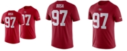 Nike Men's Nick Bosa San Francisco 49ers Pride Name and Number Wordmark T-Shirt