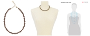 """Charter Club Gold-Tone Mocha Imitation Pearl (8mm) Single Strand Necklace, 16"""" + 2"""" extender, Created for Macy's"""