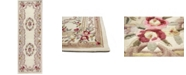 """KM Home CLOSEOUT!  Palace Garden Aubusson Cream 2'6"""" x 8' Runner Area Rug"""