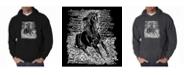 LA Pop Art Men's Word Art Hooded Sweatshirt - Horse Breeds