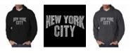 LA Pop Art Men's Word Art Hoodie - New York City Neighborhoods