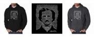LA Pop Art Men's Word Art Hoodie - Edgar Allen Poe - The Raven
