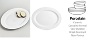 Martha Stewart Collection Whiteware Oval Platter, Created for Macy's