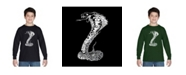 LA Pop Art Boy's Word Art Long Sleeve T-Shirt - Tyles of Snakes
