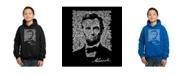 LA Pop Art Boy's Word Art Hoodies - Abraham Lincoln - Gettysburg Address