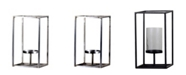 """Villa2 Bengal Single 3"""" Dia Candle Holder with Glass Hurricane"""