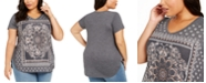 Style & Co Plus Size Paisley Graphic T-Shirt, Created For Macy's