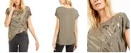 INC International Concepts I.N.C. Sequin Zebra T-Shirt, Created For Macy's