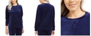 Karen Scott Velour Sweatshirt, Created For Macy's