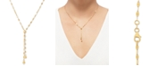 "Macy's Polished Bead 17"" Lariat Necklace in 14k Gold"