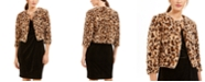 Calvin Klein Animal-Print Faux-Fur Shrug