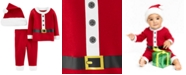 Carter's Baby Boys & Girls 3-Pc. Santa Hat, T-Shirt & Pants Set