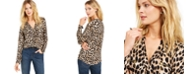 INC International Concepts I.N.C. Animal Print Zip-Detail Top, Created for Macy's