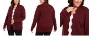 Belldini Belldidni Plus Size Scalloped Open-Front Cardigan