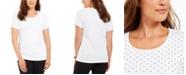 Karen Scott Petite Dot-Print Top, Created For Macy's