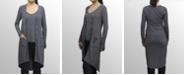 COIN 1804 Womens Rayon Blend Stripe Cardigan