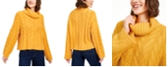 Sun + Moon Cowl-Neck Cable-Knit Sweater