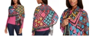 Echo Graphic Patchwork Oblong Scarf