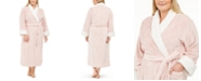 Charter Club Plus Size Faux-Fur-Trim Long Robe, Created For Macy's