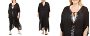 Raviya Plus Size Crochet-Trimmed Cover-Up Maxi Dress