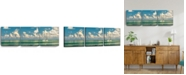 "Ready2HangArt Two Boats 3 Piece Wrapped Canvas Coastal Wall Art Set, 20"" x 60"""