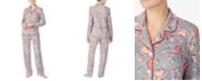 Cuddl Duds Printed Notch Collar Pajama Set