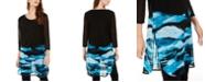 Alfani Printed Sheer Tunic, Created for Macy's